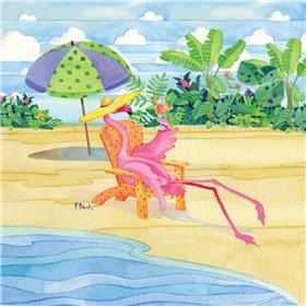 Beach Chair Flamingo