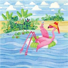 Martini Float Flamingo