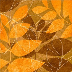 Orange Leaves I