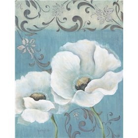 Poppies on Blue I