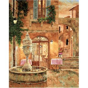 Evening at the Fountain