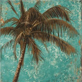 Palm on Turquoise I