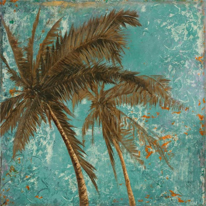 Palm on Turquoise II