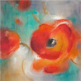 Scarlet Poppies in Bloom II