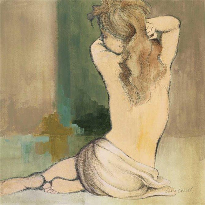 Waking Woman I - green