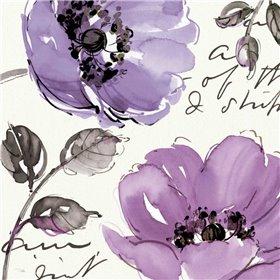 Floral Waltz Plum II