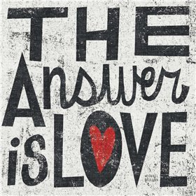 The Answer is Love Grunge Square