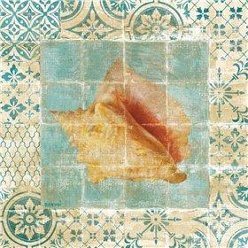 Shell Tiles IV Blue