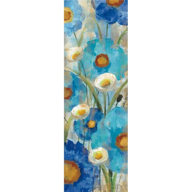Sunkissed Blue and White Flowers I