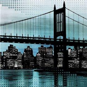 City Metallic In Blue