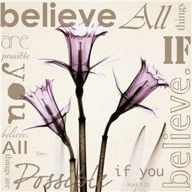 Believe - Violet Daffodils