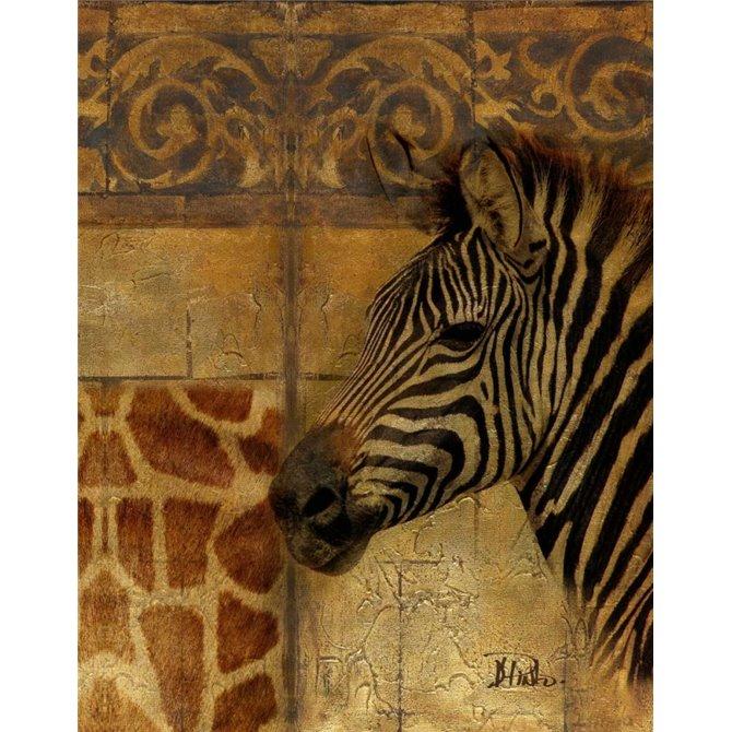 Elegant Safari I - Zebra