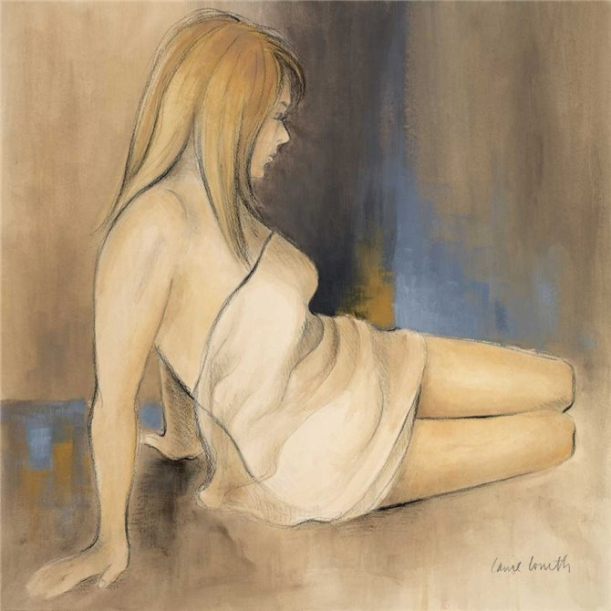 Waking Woman II - blue