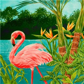 Hot Tropical Flamingo I