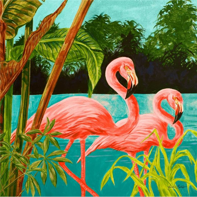 Hot Tropical Flamingo II