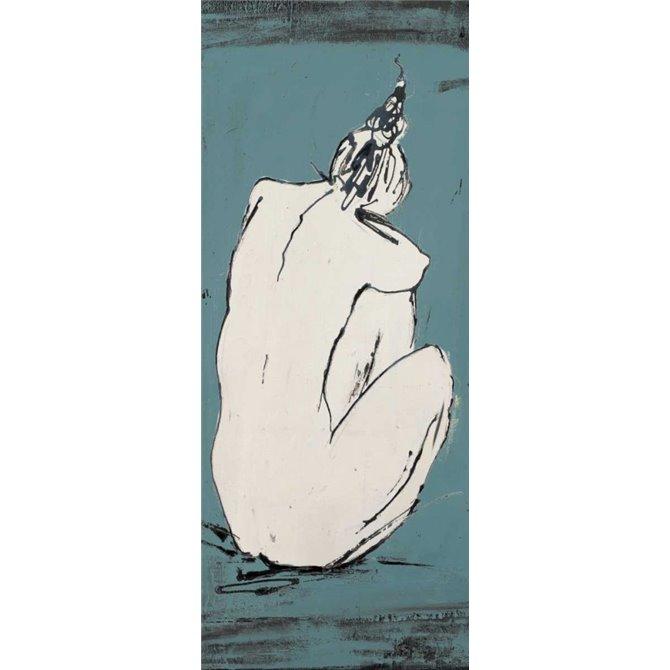 Nude Sketch on Blue I