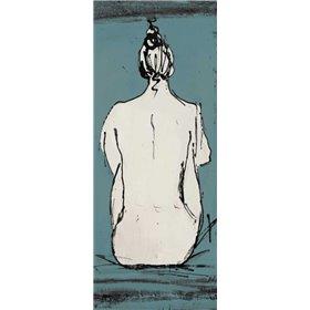 Nude Sketch on Blue II