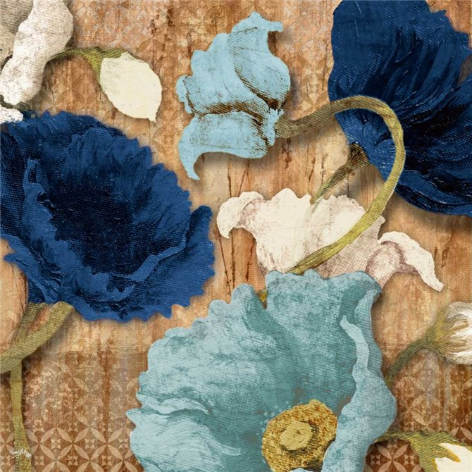 Blue Joyful Poppies I