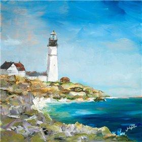 Lighthouse on the Rocky Shore I