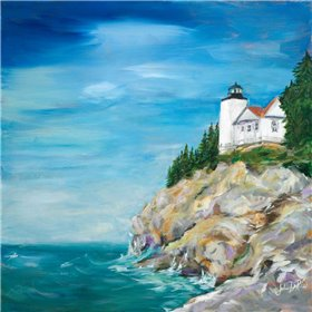 Lighthouse on the Rocky Shore II