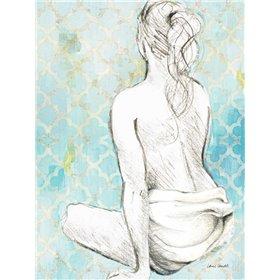 Woman Sitting on Pattern II
