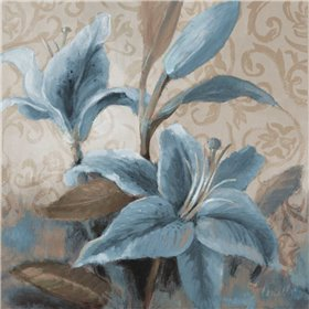 Soft Blue Blooms II