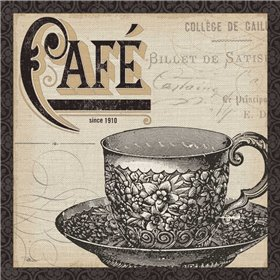 Antique Cafe II with Border