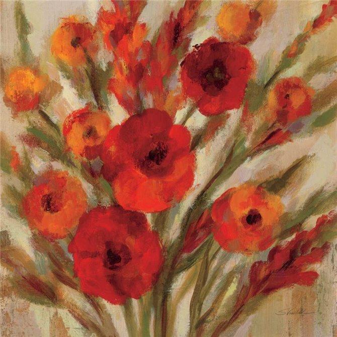 Crimson Blooms II