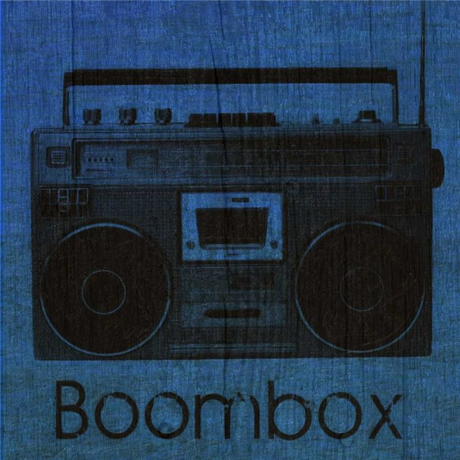 BOOMBOX ON BLUE