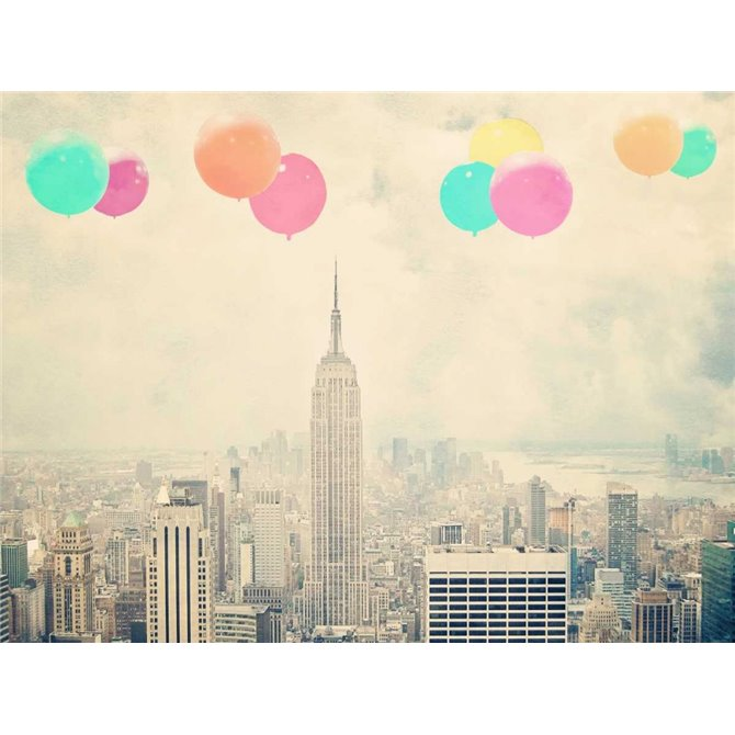 NYC Balloons With Clouds