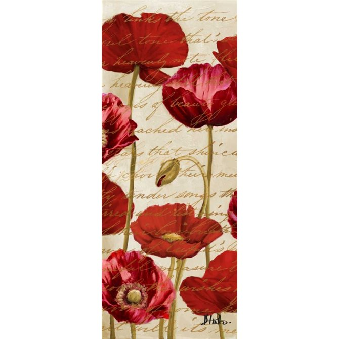Red Poppies Panel II