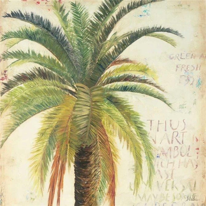 Palms and Scrolls Square II