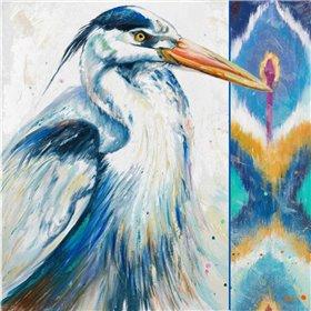 Blue Heron Ikat I
