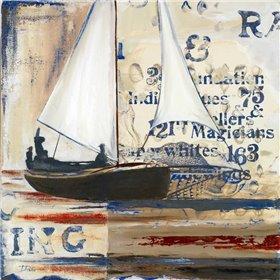 Blue Sailing Race Border I