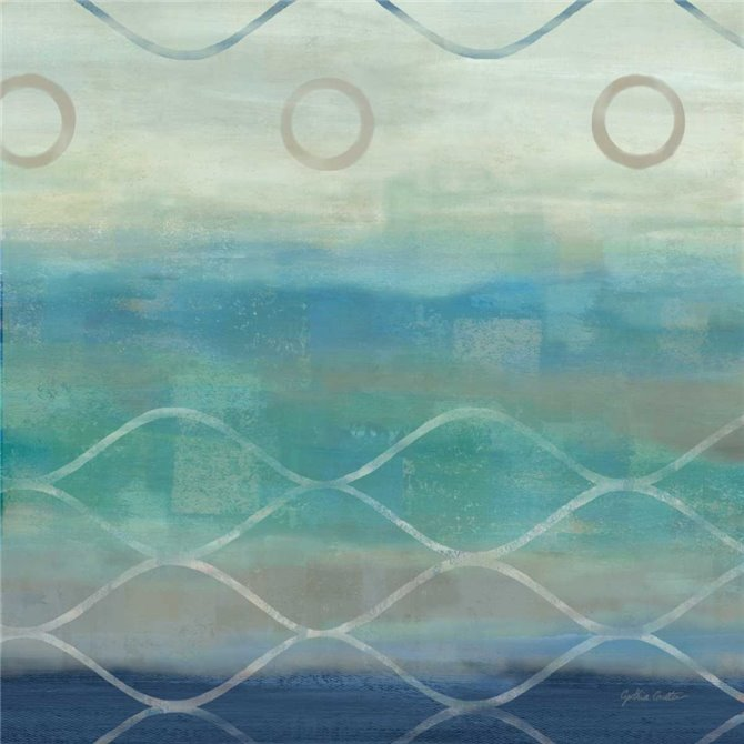 Abstract Waves Blue-Gray II