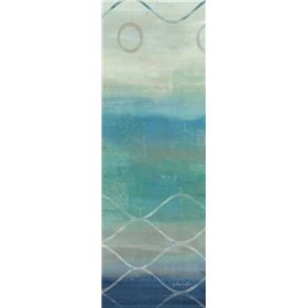 Abstract Waves Blue-Gray Panel II