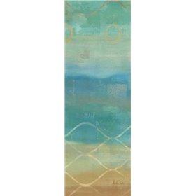 Abstract Waves Blue Panel II
