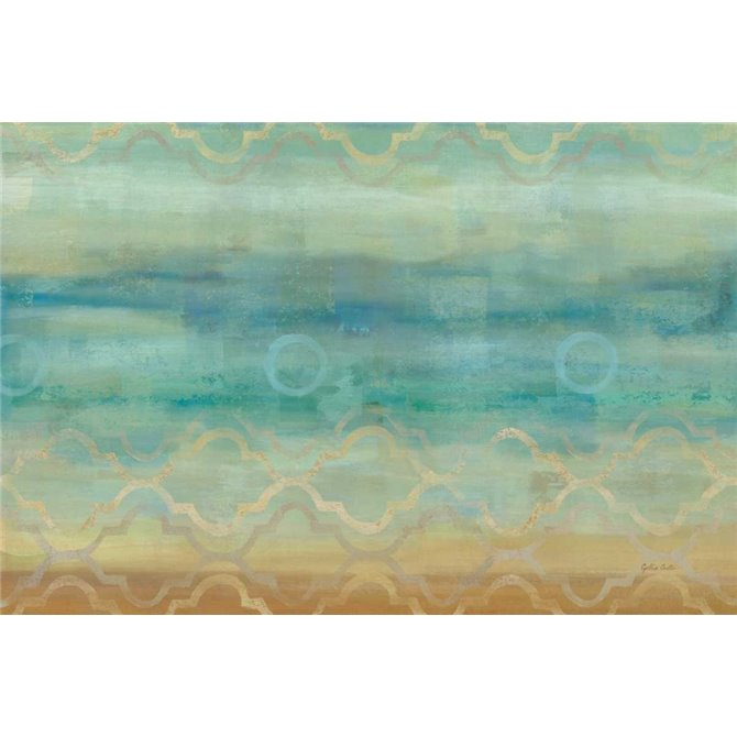 Abstract Waves Blue Landscape