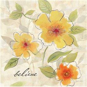 Bright Yellow Garden Trio II