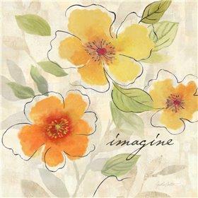 Bright Yellow Garden Trio III