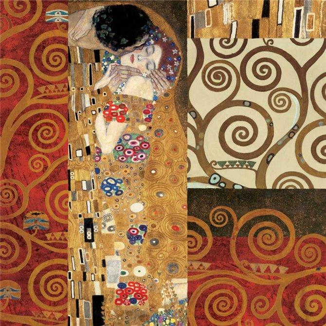 Klimt Details-The Kiss