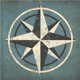 Nautical Compass Blue