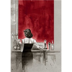 Evening Lounge Red Study