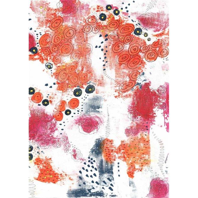 Orange and Fuchsia Abstract
