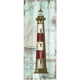 Antique La Mer Lighthouse Panel II