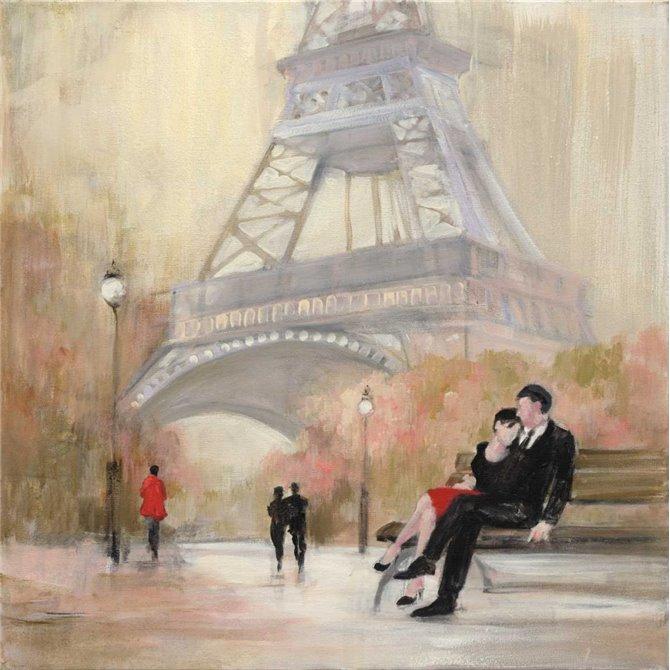 Romantic Paris I Red Jacket