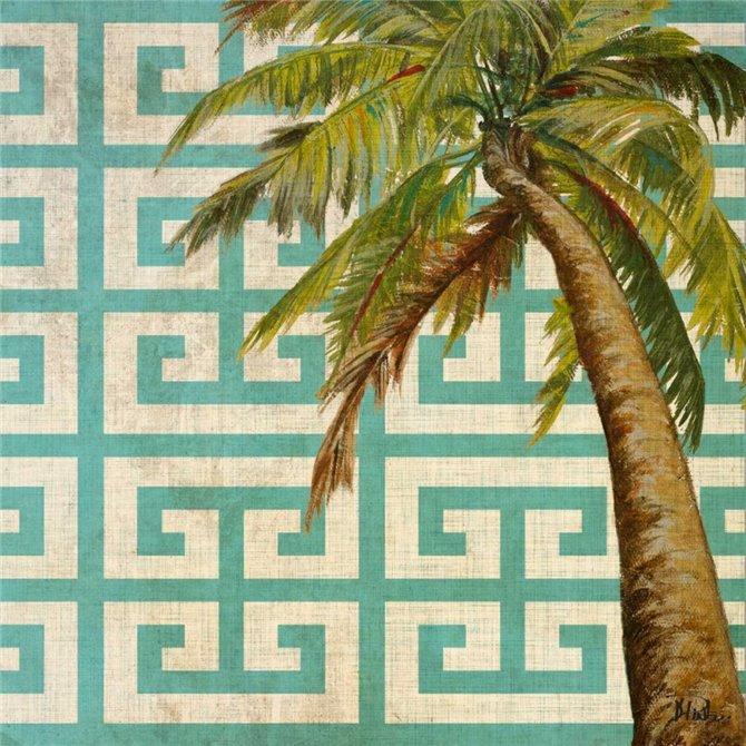 Beach Palm Turquoise Pattern II