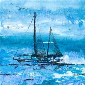 Coastal Boats in Watercolor II