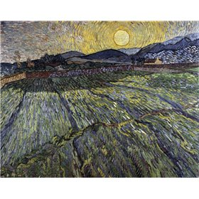 Enclosed Field with Rising Sun, Saint-Remy