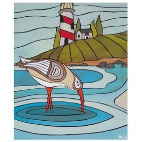 Sandpiper and Lighthouse